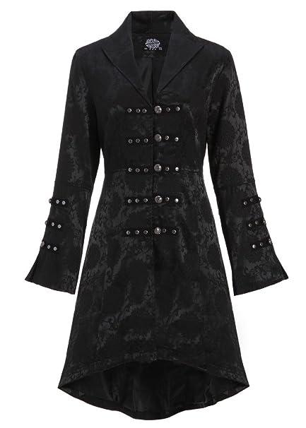 hot sale online e1243 298b2 Cappotto, giacca con allacciatura sulla schiena, colore: nero, da donna,  stile gotico, vittoriano