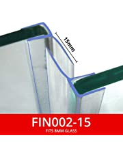 Vertical Shower Seals | Sold in Pairs | Used on Screens or Doors | 15 or 25mm Back Fins | Fits 8mm Glass | 2 Metres Long | Clear or Chrome | FIN002 (15mm Fins (Clear))