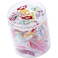 Prettyia Sewing Wonder Clips, Pack of 120 Multipurpose Quilting Clips with Plastic Storage Box Assorted Colors and Sizes