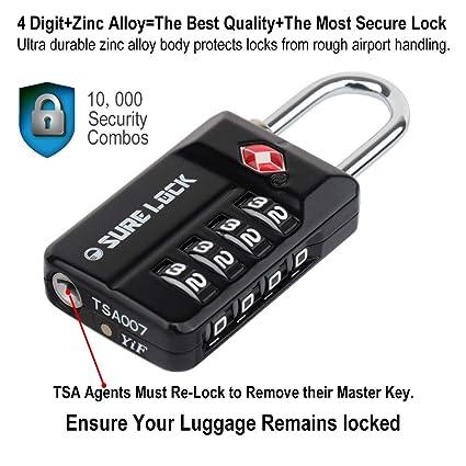 Amazon com | SURE LOCK TSA Compatible Travel Luggage Locks