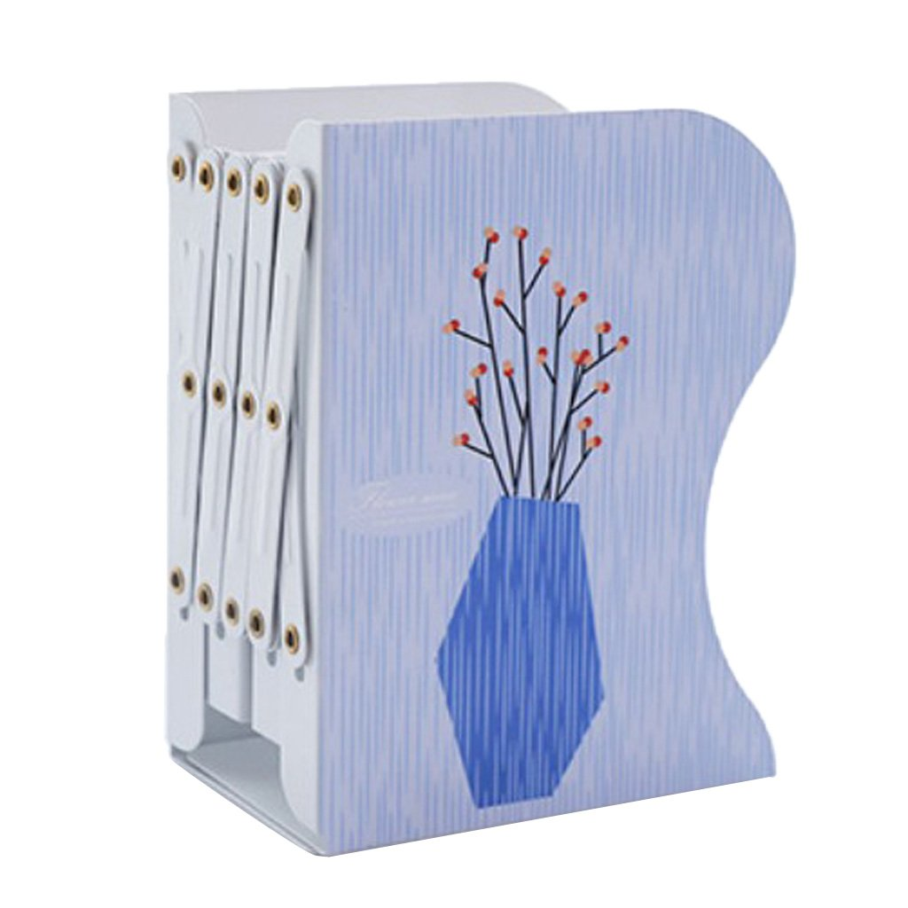MagiDeal Modern Fashion Retractable Metal Bookends Iron Home Office School Decorative Book Support Holder Desk Stands For Books - #6, 15x10x19cm