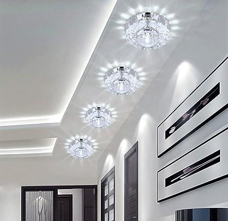 Lámpara Cristal Colgante de Techo LUZ LED de Interior, 3W ...