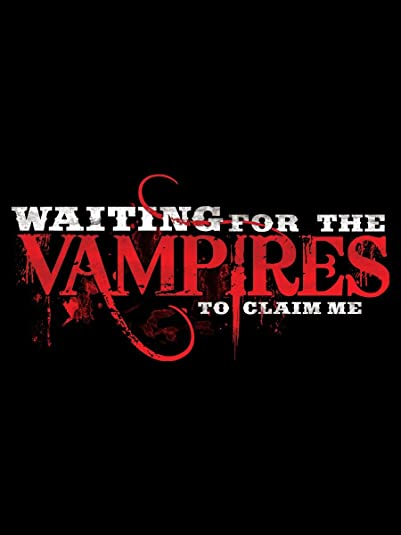 Shoulder Bag Waiting For The Vampires To Claim Me Black 40x28cm