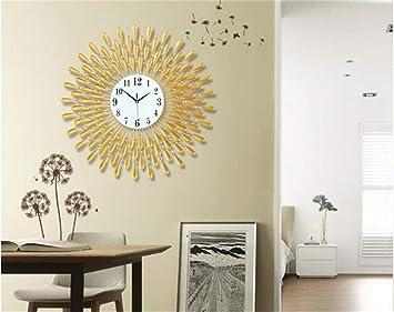 BAOBAO Reloj de Pared Reloj de Pared Reloj Decorativo Lounge Relojes Personalizados Gran Silencio Creativo Europeo Moderno Reloj de Pared Reloj de Cuarzo ...