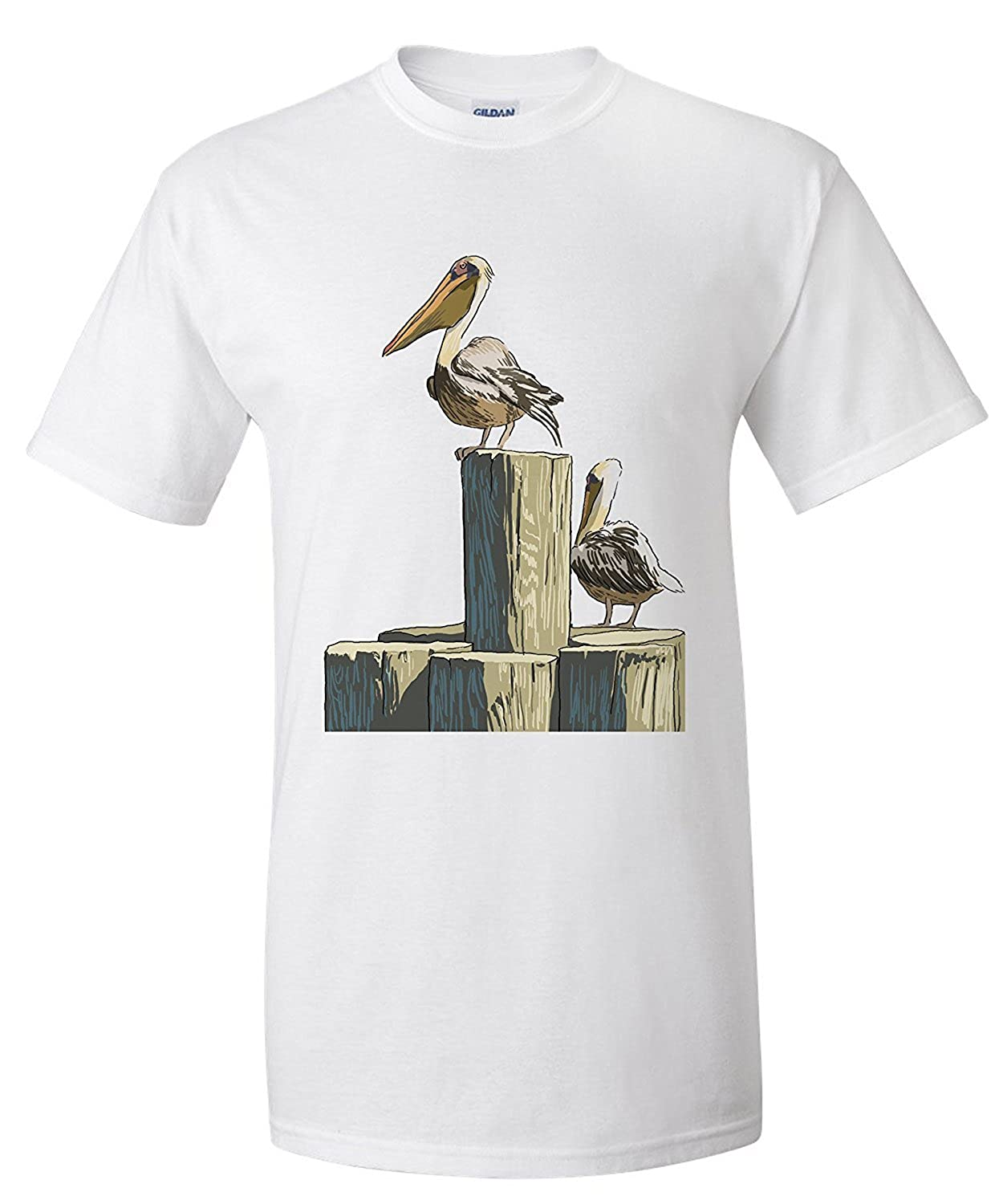 Pelican and Pilings - Icon (Premium T-Shirt): Amazon.es: Ropa y ...