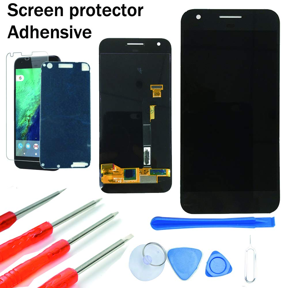 KNONEW Screen Replacement for Google Pixel Glass LCD Display Touch Digitizer Assembly + Tools(Black)