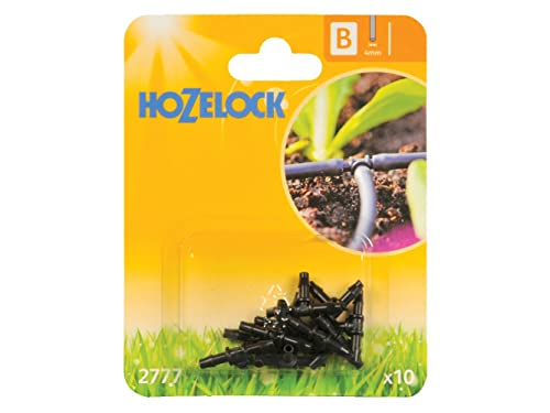 Hozelock 4 mm T-Piece - Pack of 10