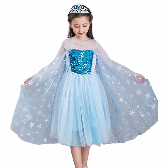 Amazon.com: Disfraz de princesa con lentejuelas para niñas ...