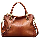 Jack&Chris Ladies Handbags and Purses Tote Bag for Women Leather Shoulder Bag, WB517 (Brown)