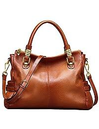 Jack&Chris® Women Vintage Leather Shoulder Handbags Top-handle Tote,WB517