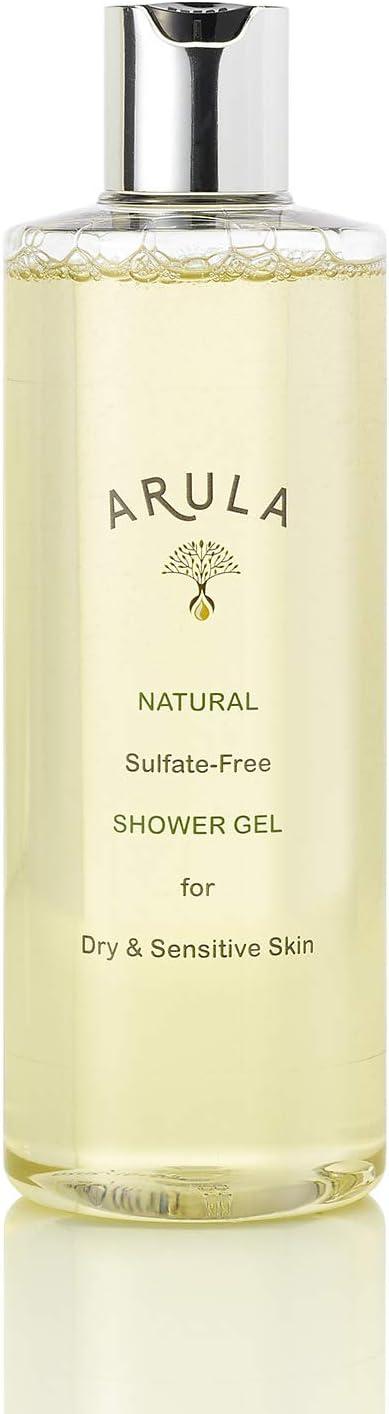 Arula Aceite de ducha natural Enriquecido con proteína de trigo, que acondicionará e hidratará tu piel. Adecuado para pieles secas y sensibles. Sin ...