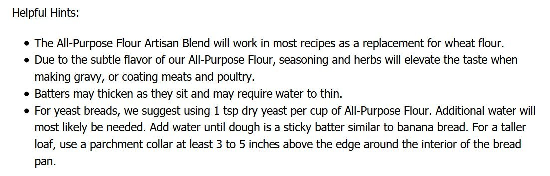 Pamela's Products Gluten Free All Purpose Flour Blend, 4 Pound by Pamela's Products (Image #5)
