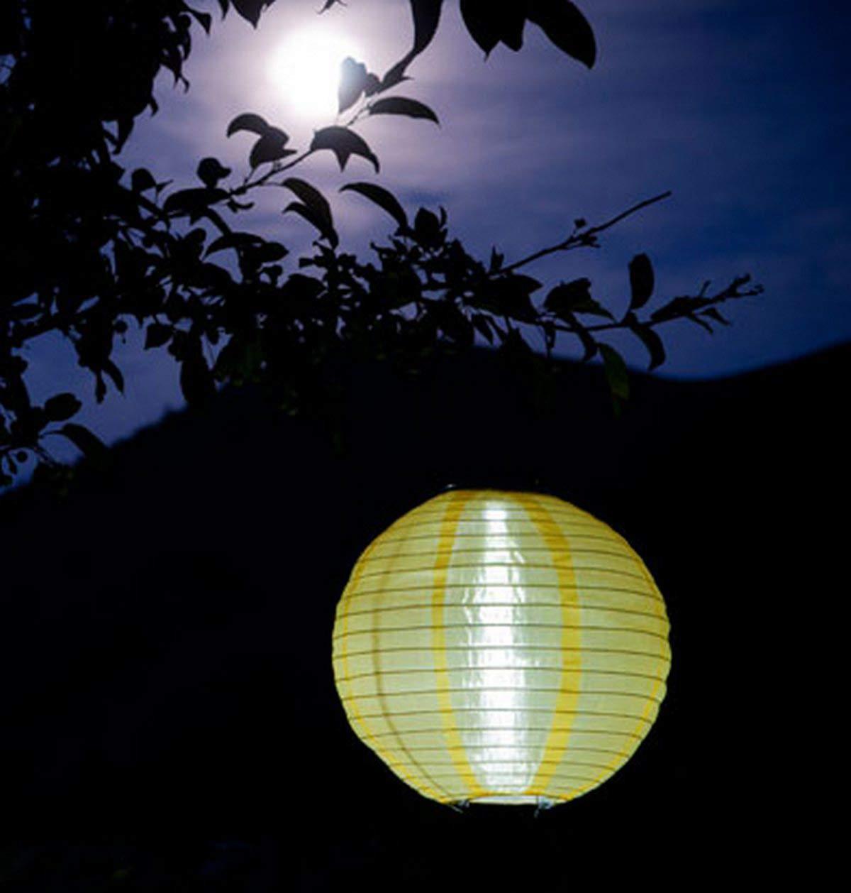 1-Count Green Allsop Home and Garden 10-Inch Round Soji Solar Lantern
