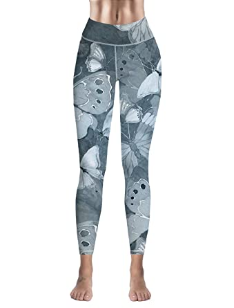 f881148fb3 Amazon.com: Savannan Women Leggings Skinny Yoga Workout Pants Beautiful  Butterflies in Watercolor: Clothing