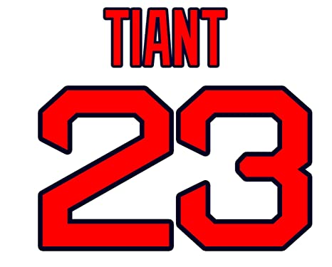 Luis Tiant Boston Red Sox Jersey Number Kit e280dc6fa26