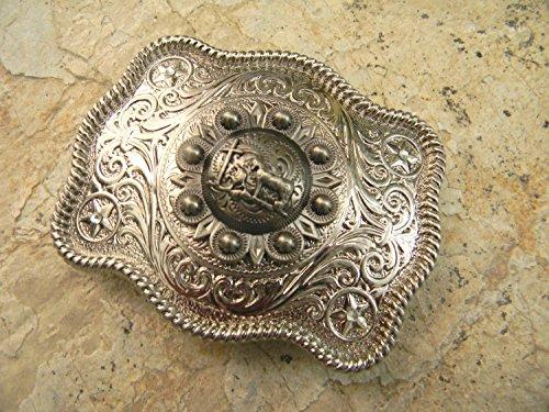 Wrangler Concho Belt (Praying Cowboy Cross Belt Buckle, Horse Buckle, Cowboy Prayer Womens Mens Kids Western)