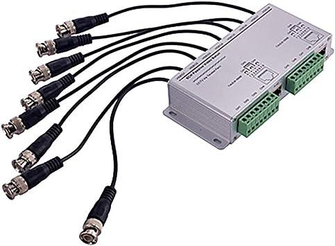 H HILABEE Transmisor De Video Balun Pasivo De 8 Canales BNC A UTP para: Amazon.es: Electrónica