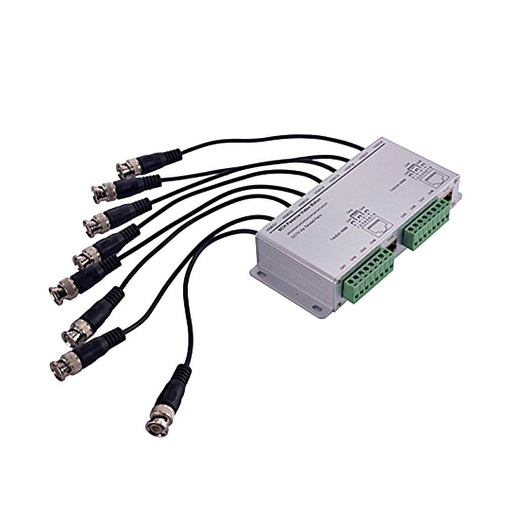 Fenteer 8 Channel Passive Video Balun Transmiter BNC To UTP for Surveillance Security Camera