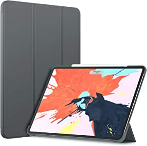 JETech Case for iPad Pro 12.9-Inch (2020 / 2018 Model), Compatible with Pencil, Cover Auto Wake/Sleep, Dark Grey