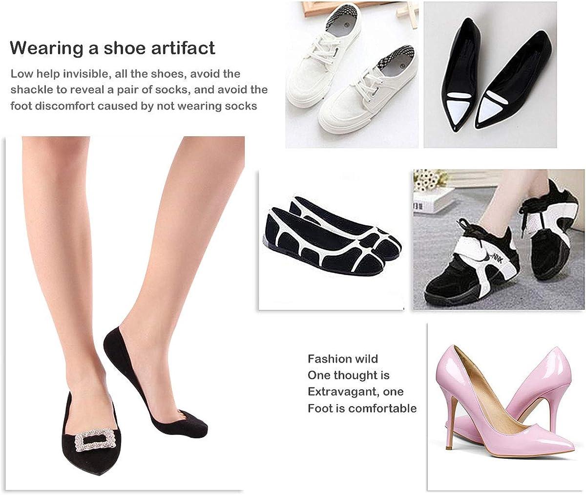 6//5 Pairs Women Low Socks Non-Slip No Show Ankle Socks Women Breathable Trainers Socks Sneaker Socks Women Invisible Ladies Shoe Socks Cotton Low Cut Socks