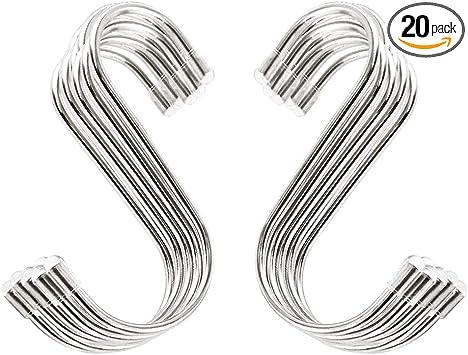 Metal Hanging Hooks: 20 pack