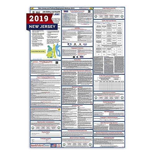 - 2019 New Jersey State and Federal Labor Law Poster - Laminated 27