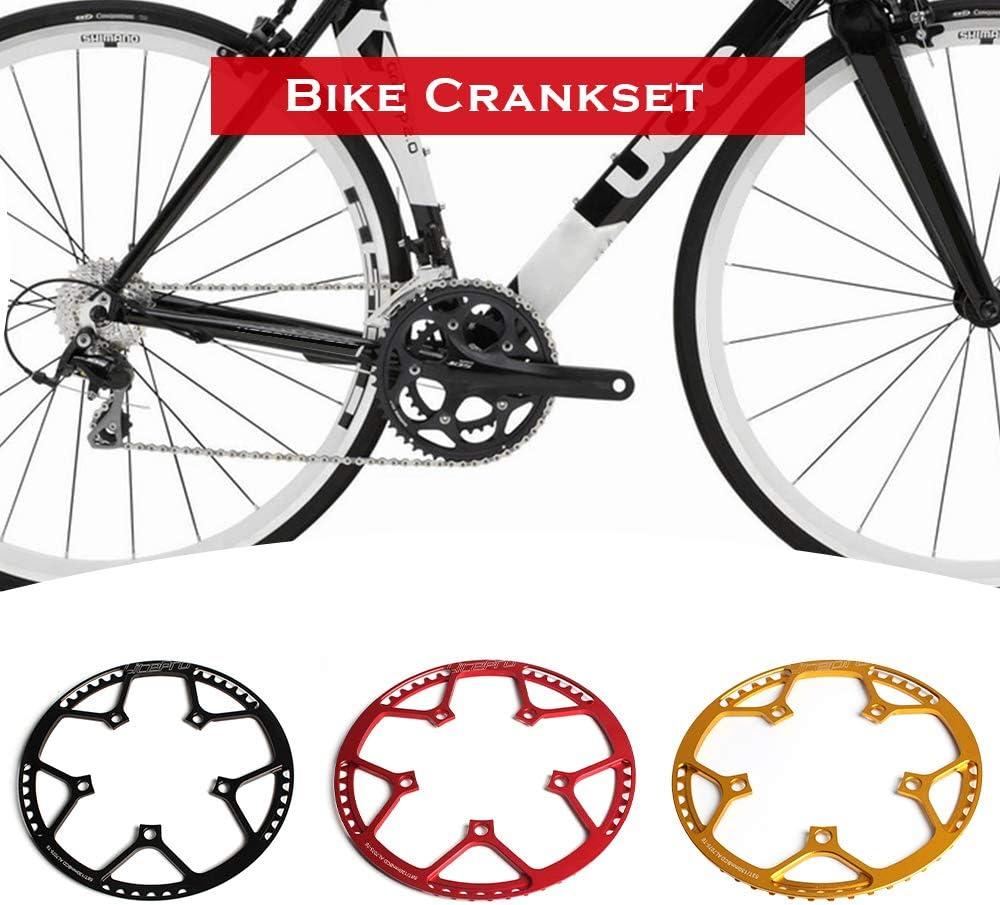 Lixada Plato de Bicicleta Plegable Bici Plato Oval Redondo Anillo ...