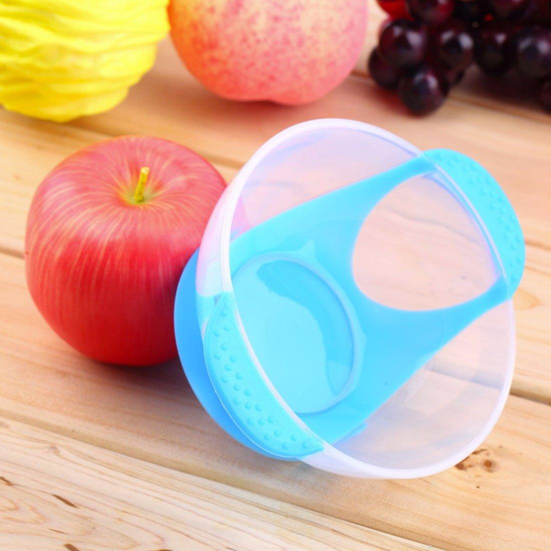 Vaisselle antid/érapante avec Ventouse Bol avec Fourchette et Cuill/ère Thermosensible pour B/éb/é