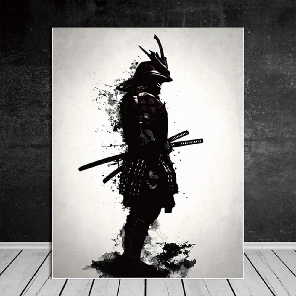Samurai Japonais Peinture /À Lhuile Sur Mur Moderne Mur Art Photos Impression Sur Toile Pour Le Salon HD D/écoration D/écoration Posters Et Prints 2pcs 30X40CM