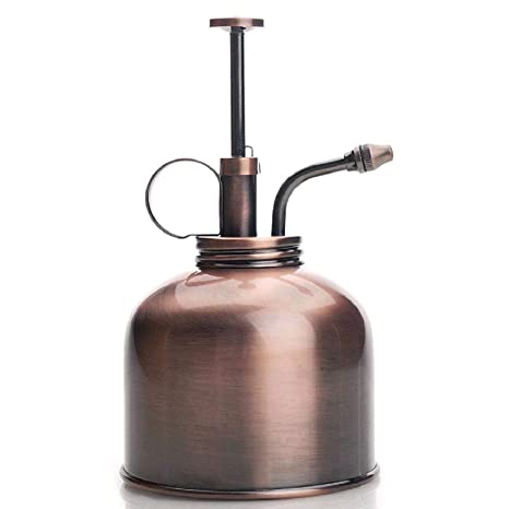 Purism Style Plant Mister- Brass Sprayer (Antique Copper)