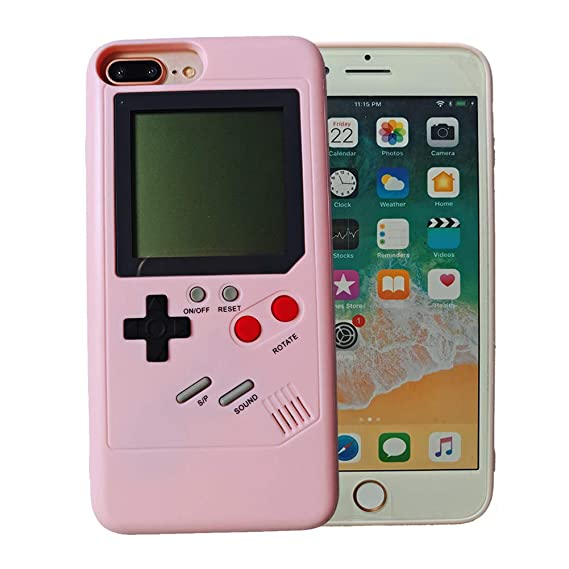 huge selection of 50591 529b0 iPhone 8 Plus Case for Women Pink, VOLMON Shockproof iPhone 7 Plus Case  Cover 3D Retro Tetris Game Case, Pretty Girl Case Funny for iPhone ...