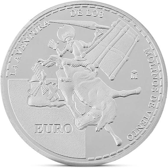 wuhan HANGZHI Novela española Don Quijote Conmemorativa Colección de Monedas Regalo Recuerdo: Amazon.es: Hogar