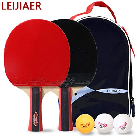 HEHE Mesa De Ping Pong Juego De 2, Ping-Pong De La Raqueta Set De ...