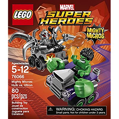 LEGO Super Heroes Mighty Micros: Hulk vs. Ultron 76066: Toys & Games