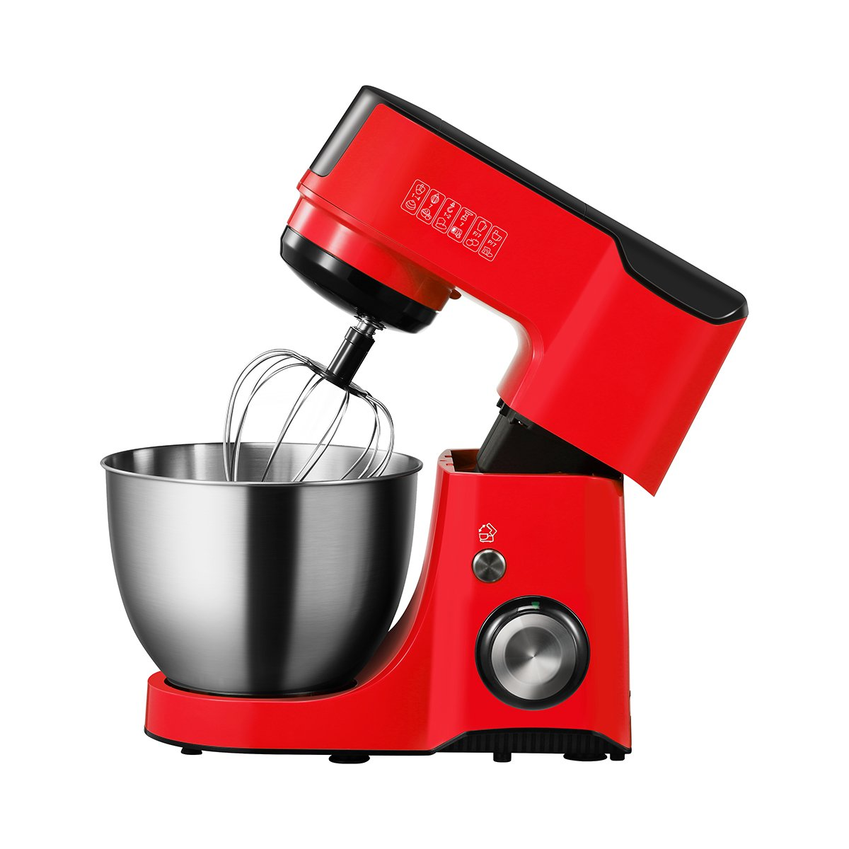 Comfee 4.75Qt ABS Housing 7-in-1 Multi Functions Tilt-Head Stand Mixer with SUS Mixing Bowl. 4 Outlets with 7 Speeds & Pulse Control and 15 Minutes Timer Planetary Mixer