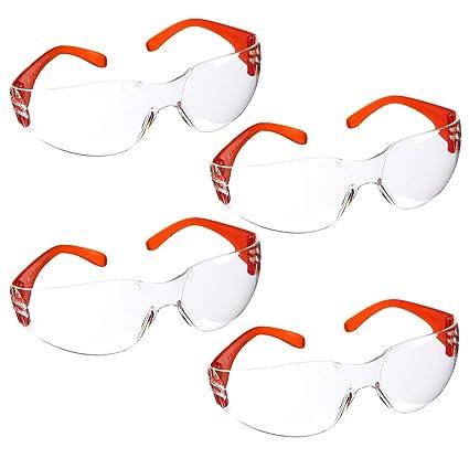 b87f89ad9f Juvale Gafas de seguridad para niños - 4 unidades de gafas protectoras de seguridad  para niños, ...