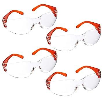 Juvale Gafas de seguridad para niños – 4 unidades de gafas protectoras de seguridad para niños