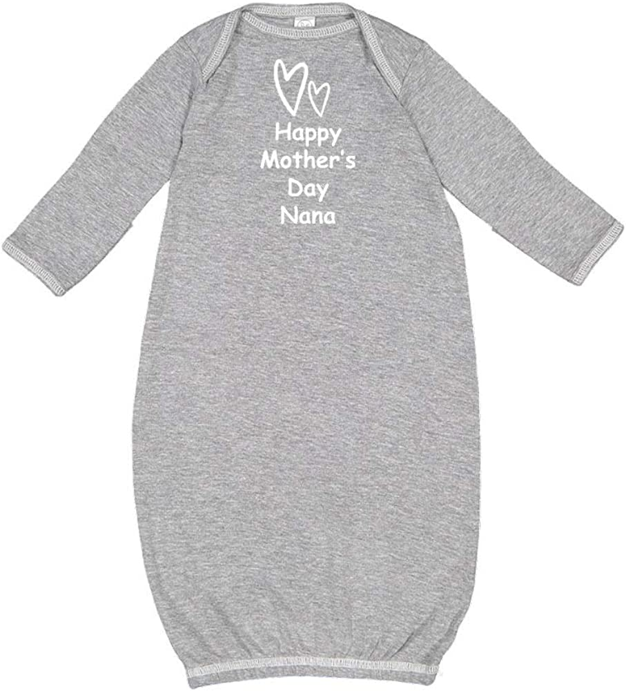Happy Mothers Day Nana Two Hearts Baby Cotton Sleeper Gown