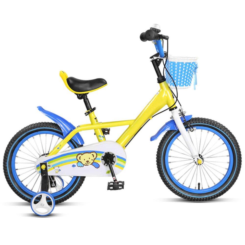 QXmEi子供の自転車高炭素スチールフレーム2 – 3 - 4 , – , 7 , – 8 Years Old Boys and Girls Lowビームフレーム14 /16インチ新しい子供の自転車 B07DV7C1QT 14Inches|ブルー ブルー 14Inches