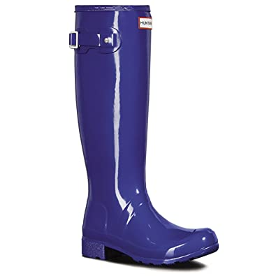 bc76014182f Hunter Womens Original Tour Gloss Galoshes Snow Wellingtons Rain Boots -  Azure - 6
