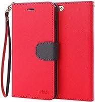 Coque iPhone SE, Coque iPhone 5S, IPHOX iPhone SE/ 5S/ 5 Housse en Cuir Premium Flip Case Portefeuille Etui pour iPhone SE/ 5S/ 5-C