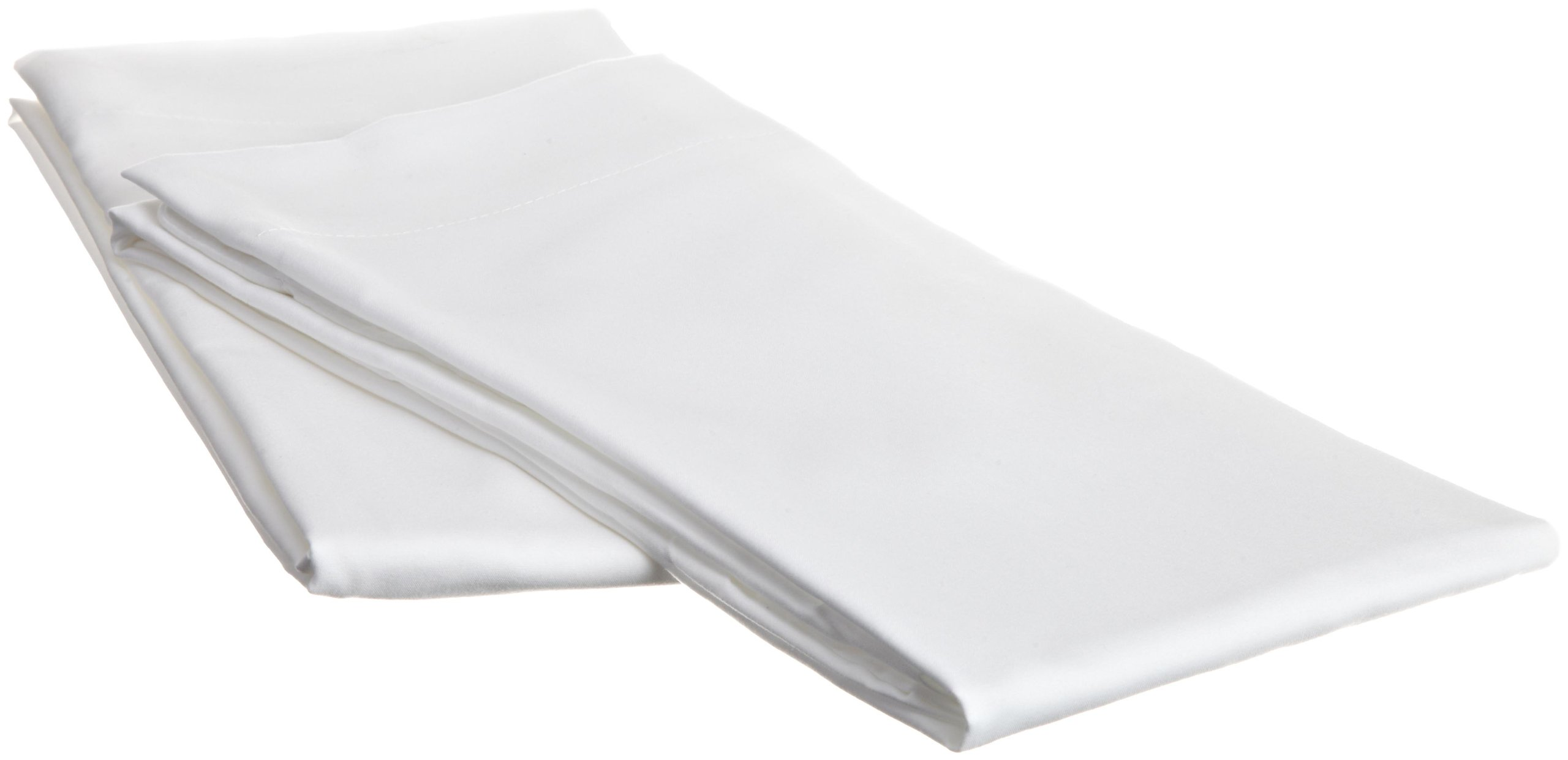Luxury Soft 2-Piece Set King Size Pillow Cases of 100-Percent Microfiber Construction in White, 20''x40''