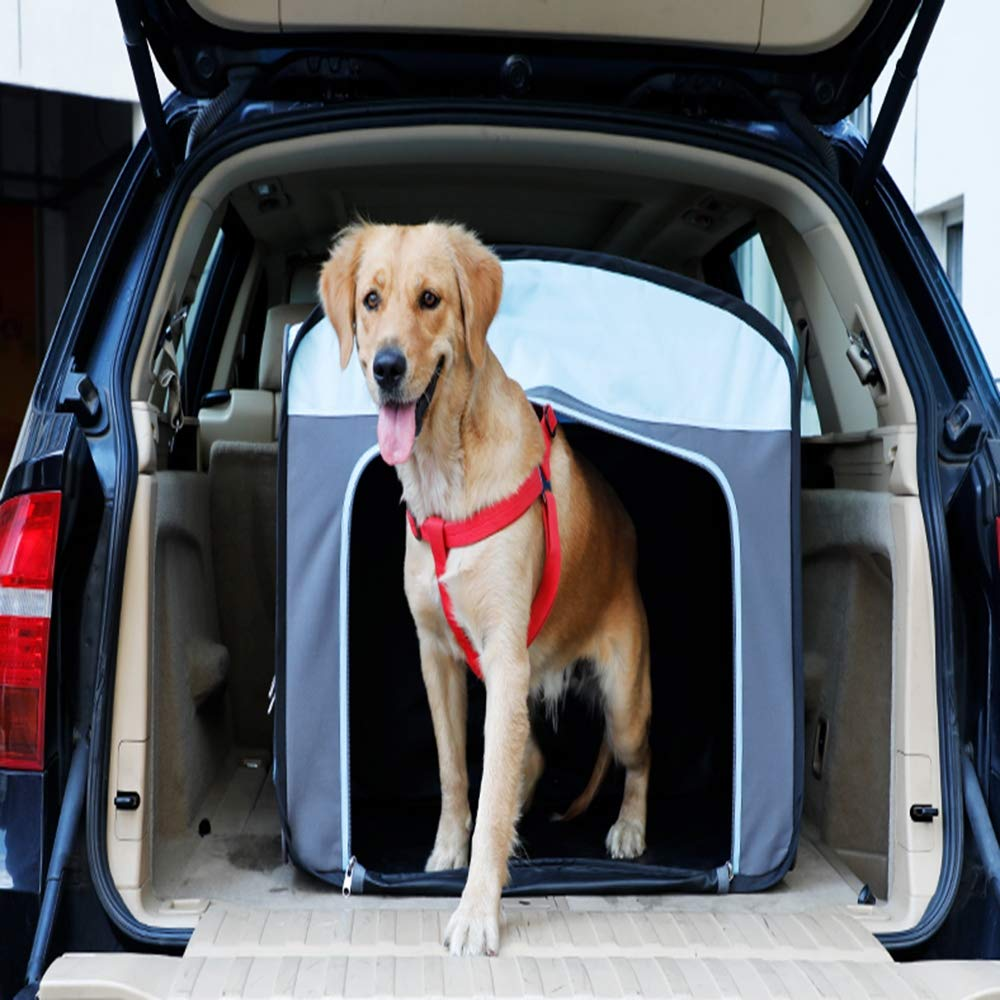 Pet Car Dog Cage, Out of the Portable Dog Car Mat, Easy to Store, Suitable for 30Kg Pets