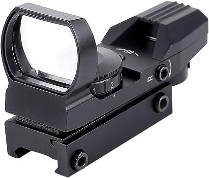 4 Reticles Red Green Dot Gun Sight Scope Reflex Sight w// 20mm Rail Hunting USA