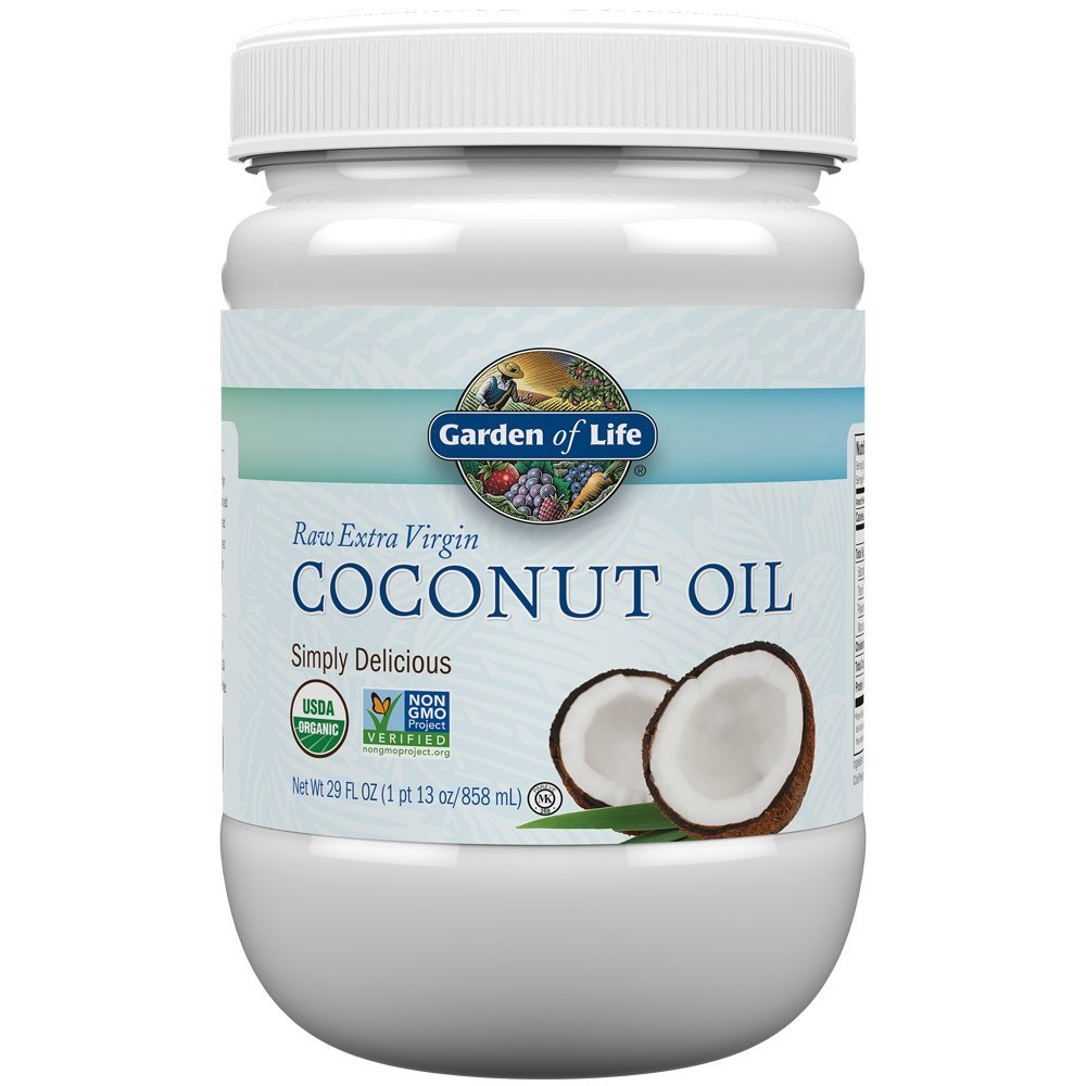 Garden of Life Organic Extra Virgin Coconut Oil - Unrefined Cold Pressed Coconut Oil for Hair, Skin and Cooking, 29 Ounce by Garden of Life