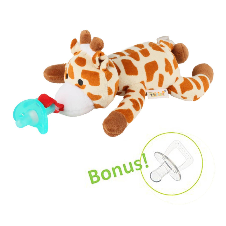 Amazon.com: Bebé Chupete con Animal de peluche extraíble ...
