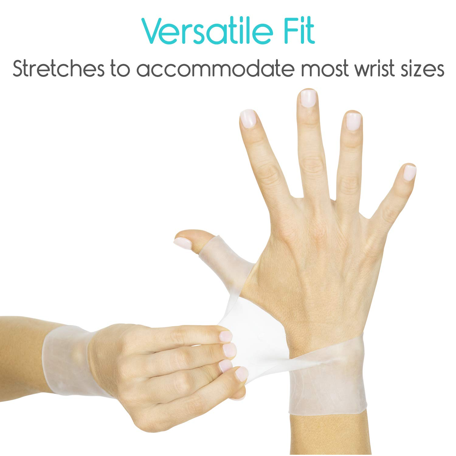 Vive Gel Thumb Support - Spica Wrist Brace Cool Wrap for Arthritis Dequervains Tenosynovitis Left and Right Hand Stabilizer Sprained Joint Pain Pair Soft Comfort Splint for Tendonitis Strain