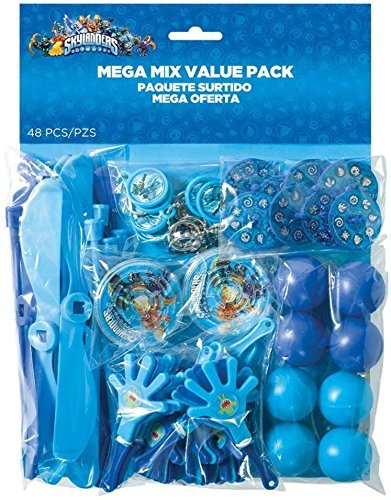 Amscan Skylanders Mega Mix Birthday Party Favors Value Pack (48 Pack), 11 1/2 x 9, Blue by Amscan