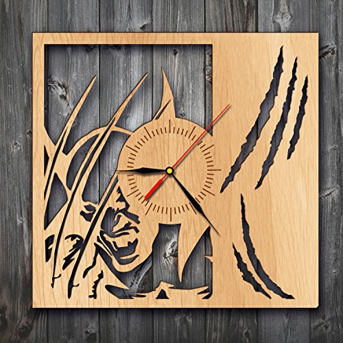 Wolverine Artwork Wood Clock Wall Art Home Decor
