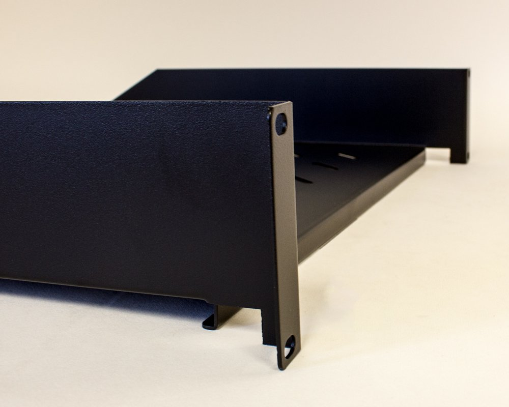 Navepoint 2U 19-Inch Universal Vented Rack Mount Cantilever Fixed Server Cabinet Shelf 16-Inches Deep Black by NavePoint